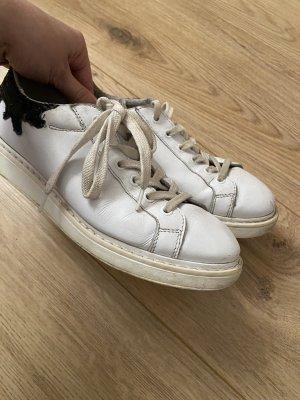 Bronx Sneaker con tacco nero-bianco
