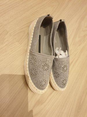 Sneaker con zeppa grigio chiaro-argento