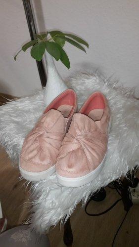 ideal shoes Instapsneakers lichtroze-wit