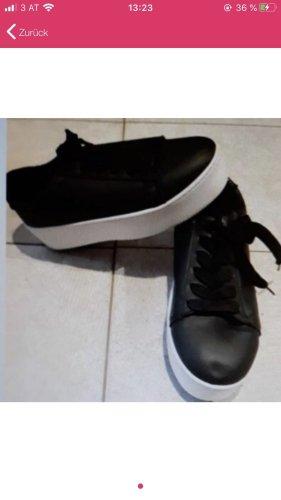 Wedge Sneaker white-black