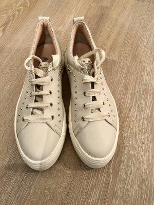 AGL Sneakers met veters wit-wolwit Leer