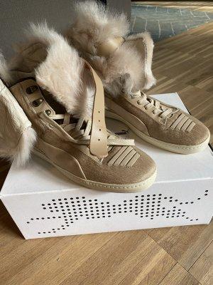 Alexander McQueen / Puma High top sneaker beige Leer