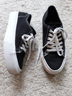 Another A Sneakers met veters wit-zwart Katoen