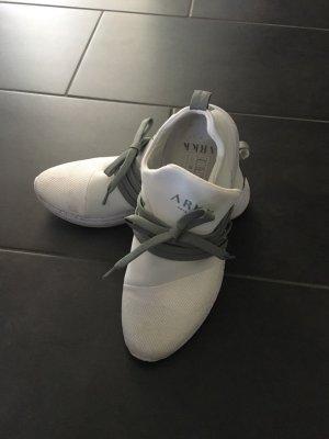 Instapsneakers wit-donkergroen