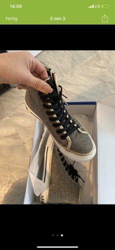 Armani Jeans Basket à lacet argenté-gris clair