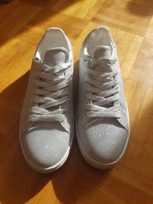 Sneaker asos Größe 38 silber Glitzer