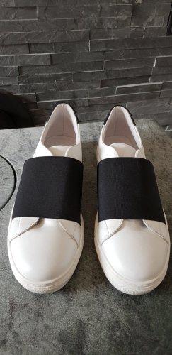Cosmoparis Instapsneakers wit-zwart Leer
