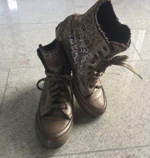 Candice Cooper Sneaker alta bronzo Pelle