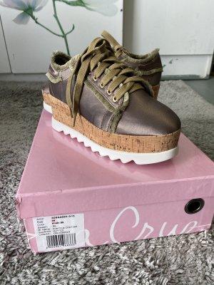 Ella Cruz Sneakers met veters oker