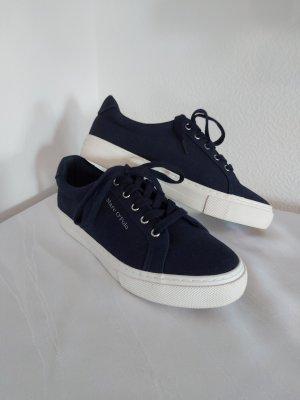 Marco Polo Zapatos de marinero blanco-azul oscuro