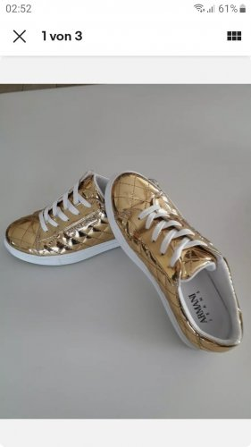 Armani Jeans High Top Sneaker gold-colored