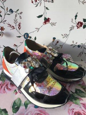 Zapatillas con velcro multicolor Imitación de cuero