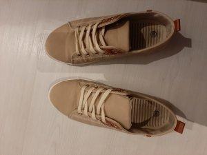 Sneaker con zeppa beige chiaro