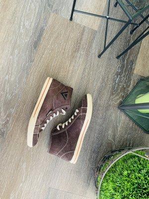 Sneaker gefüttert Fell dunkelbraun Venice beige 38