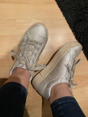 Sneaker Glitzer mit Bastsohle