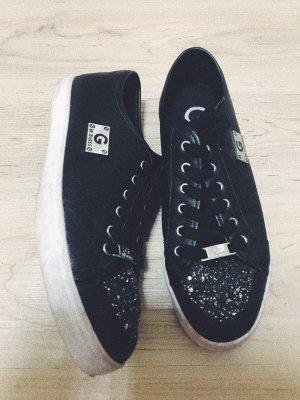 Sneaker Glitzer mit Lederoptik