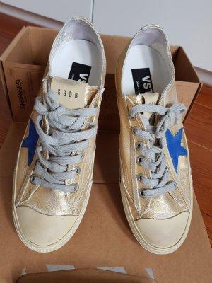 Golden Goose Zapatos de marinero color oro-azul aciano