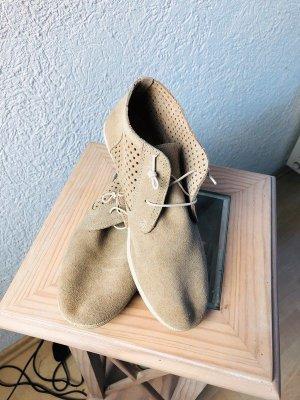 High top sneaker licht beige