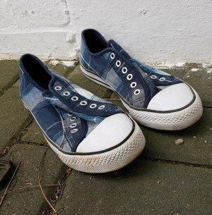 unbekannte Sneaker slip-on blu-bianco Tessuto misto