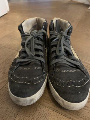 Sneaker Grau / Gold /Used Look, Grösse 39