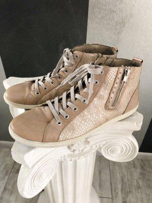 Sneaker high • echtes Leder • nude/rosé Gr. 43