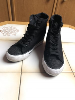 Sneaker High -Top Keilabsatz Sportschuhe Schuhe Schwarz Gr.36