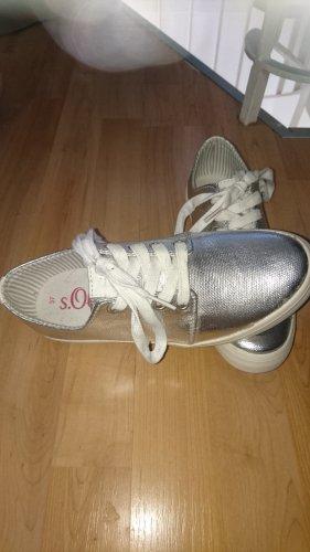 Sneaker im Metallic-Look Silber für Damen von s.Oliver RED LABEL