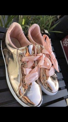 Sneaker slip-on color oro rosa