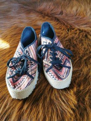 Blink Sneakers met veters zwart-donker oranje