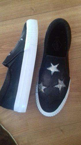 Claudia Ghazzani Slip-on Sneakers anthracite-dark blue