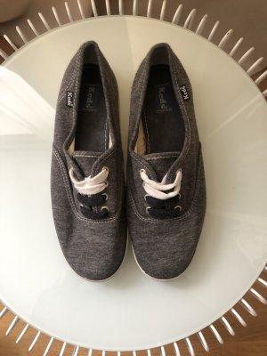 Sneaker | Jersey Stoff | Grau meliert