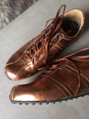 Bally Golf Lace-Up Sneaker bronze-colored leather