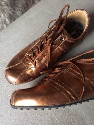 Sneaker, Ledersneaker, Kupfer, Gr. 38, Bally, Metalliclook, edel und speziell