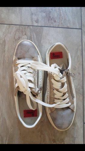 Rieker Sneakers met veters wit-goud