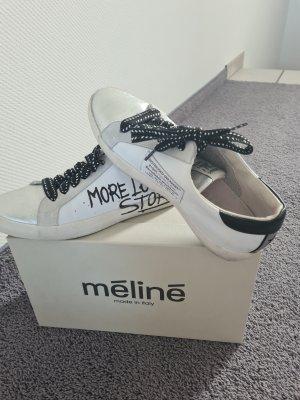 Zapatillas altas blanco-negro