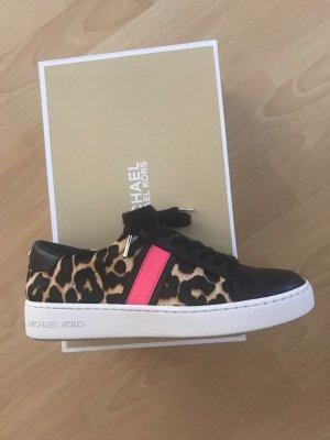 "Sneaker Michael Kors ""Irving Stripe Lace Up Sneakers Optic Black"" Gr. 37"