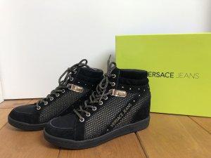 Versace Jeans Sneaker con zeppa nero-oro