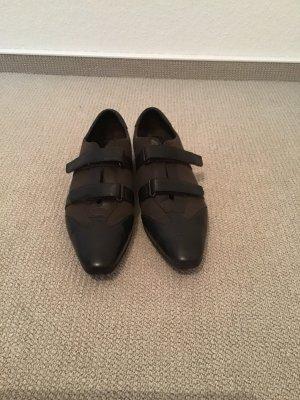 Sneaker mit Klettverschluss in dunkelgrün-schwarz von Prada, Gr. 40