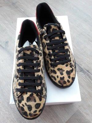 Andrea Conti Sneaker stringata bianco sporco-marrone