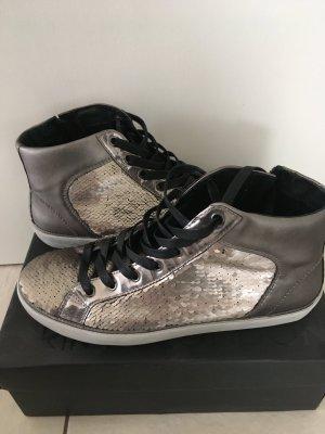 Crime Sneakers met veters zilver-grijs