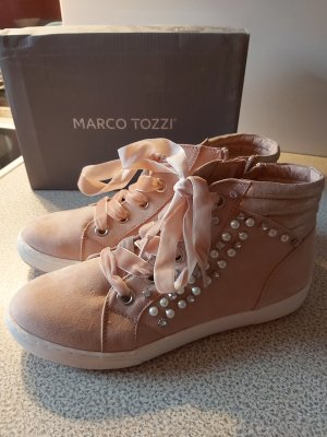 Marco Tozzi High Top Sneaker rose gold coloured pink
