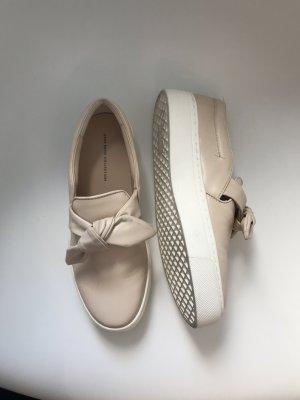 Zara Slip-on Sneakers nude-pink mixture fibre