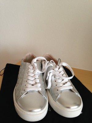 Sneaker, neu, in Silber, in Gr. 40, Leder, NP: 299€