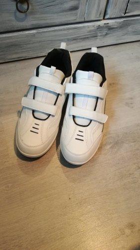 Zapatillas con velcro blanco-azul oscuro