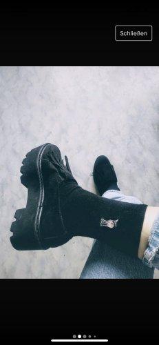 Sneaker Plateau  schwarz 38 cool