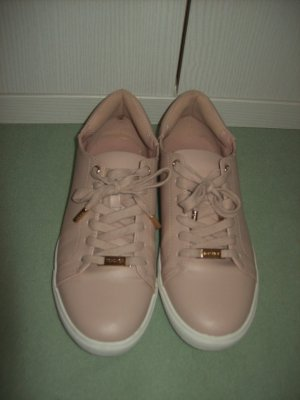 Topshop Lace-Up Sneaker nude imitation leather