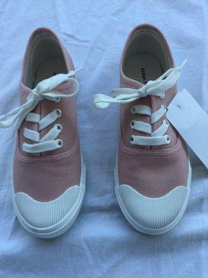 Anna Field Sneakers met veters lichtroze-wit
