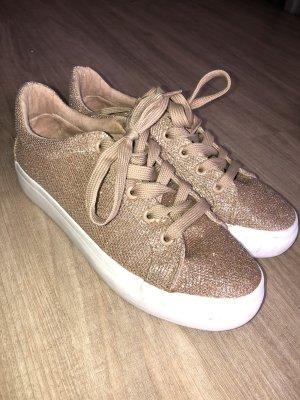 Sneaker Rosegold Glitzer