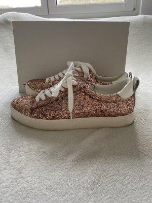 Sneaker rosegold glitzernd