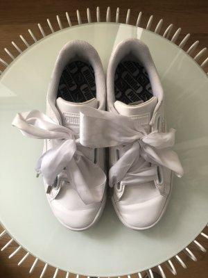 Sneaker | Schleifen | Lack Weiß